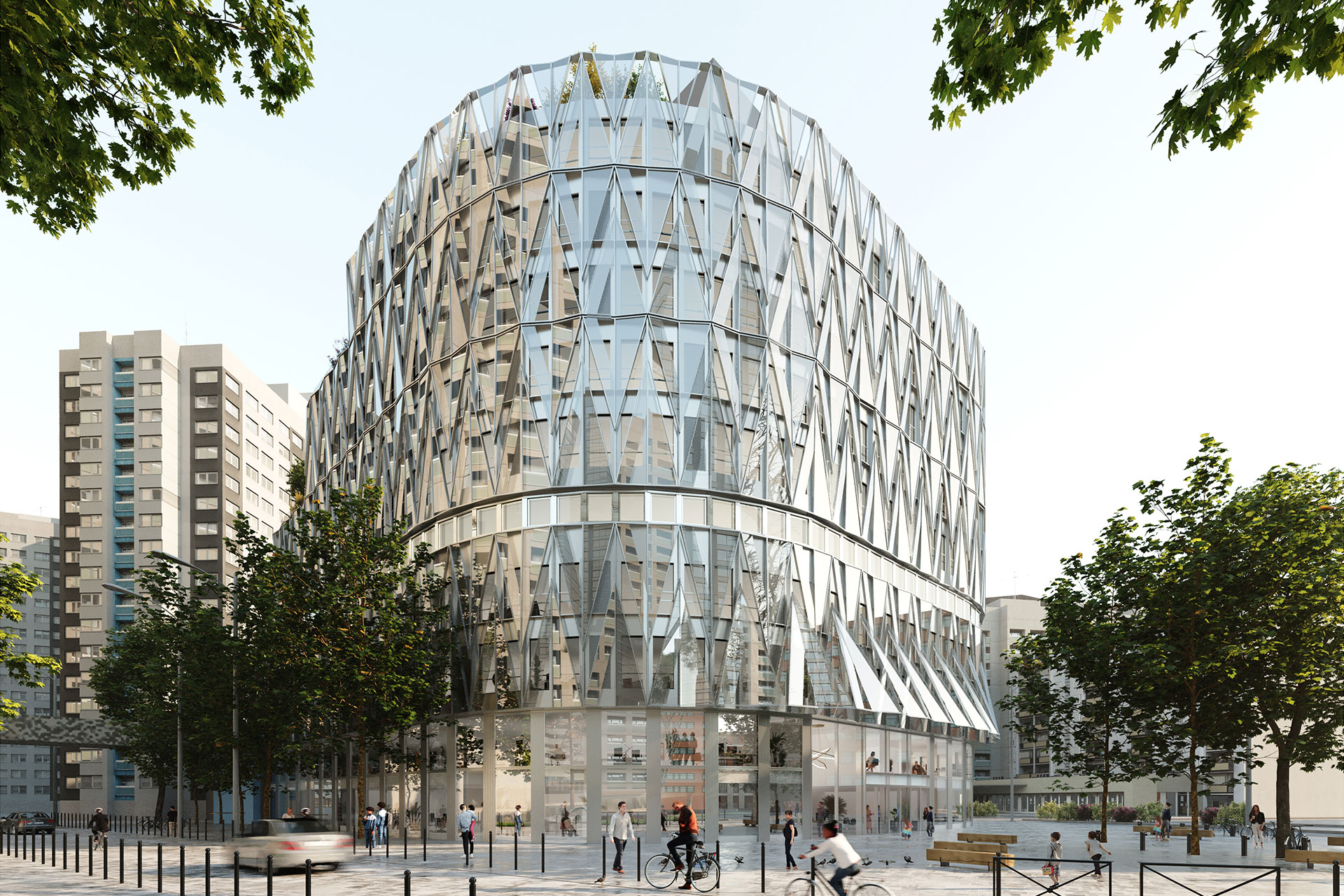 Saa Architectes Bureaux Galion Puteaux Perspective 04
