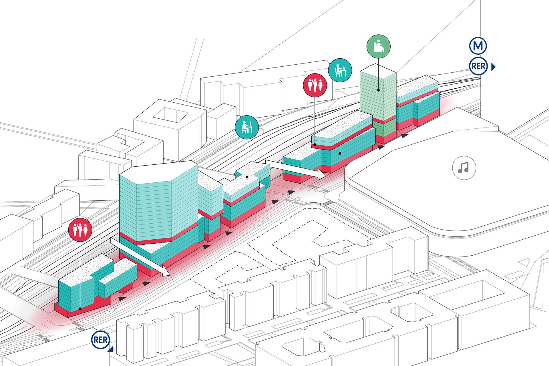 Saa Architectes Urbanisme La Defense Les Groues Nanterre04