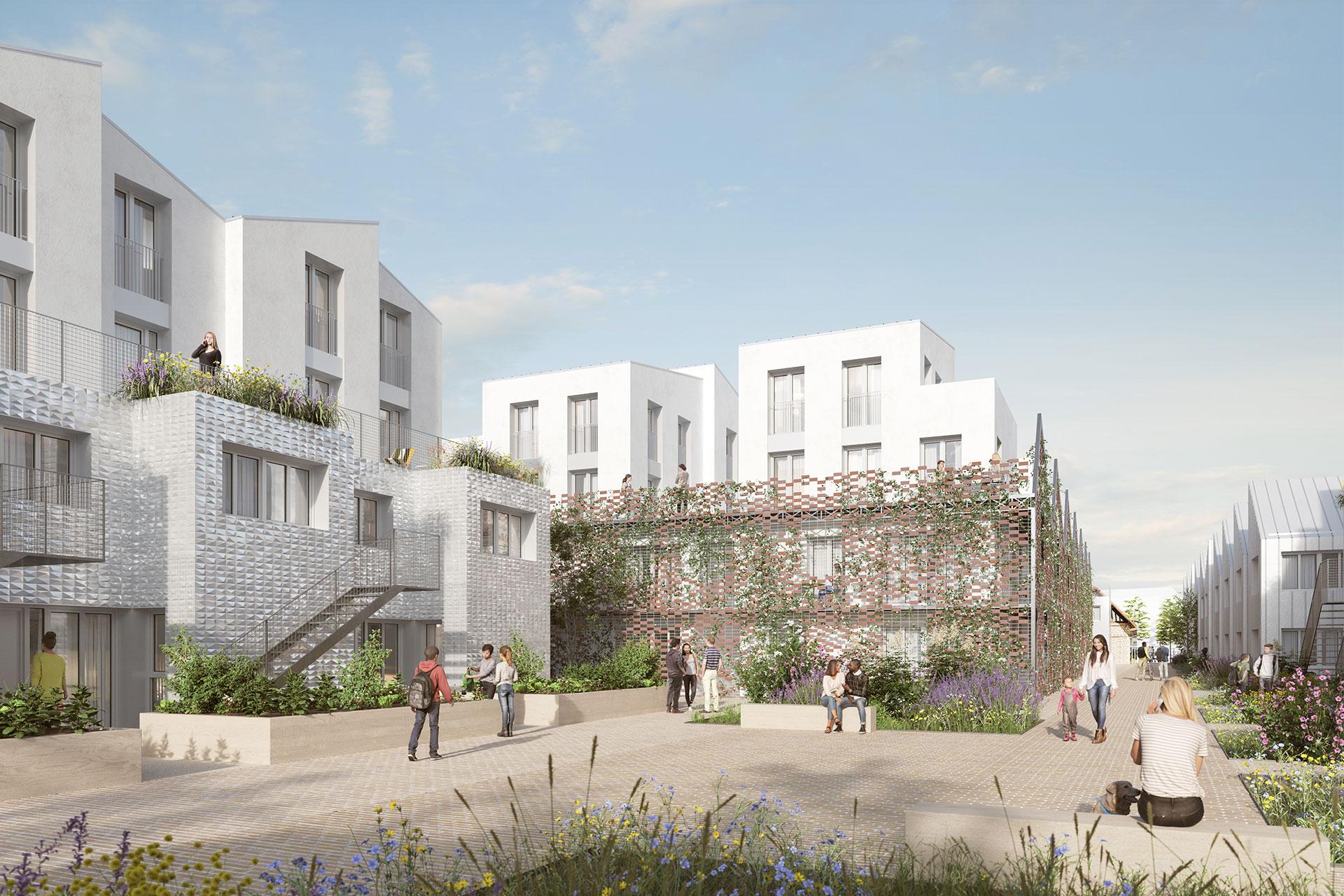 Saa Architectes Logements Coureeboulet Conflans