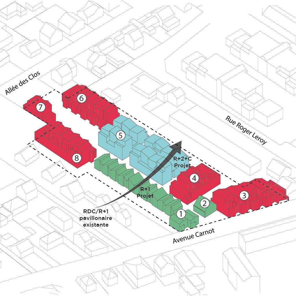 Saa Architectes Logements Coureeboulet Schema Morphologie