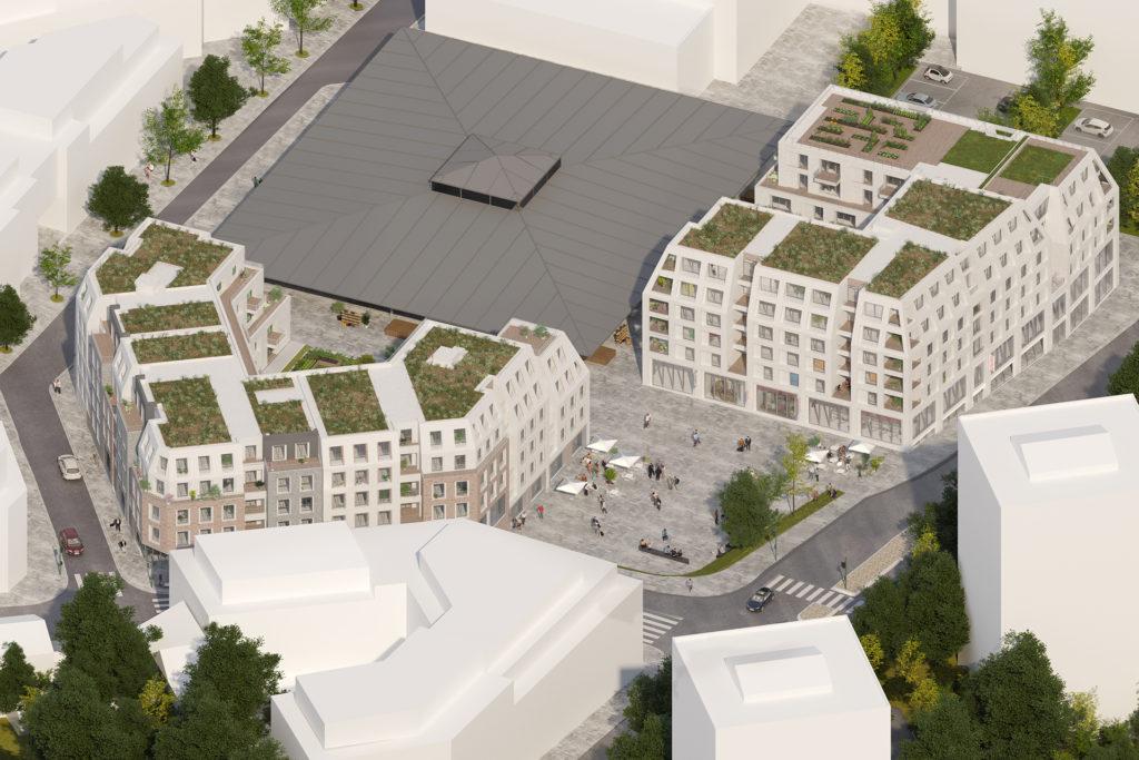 Saa Architectes Logements Marche Sucy Perspective 02