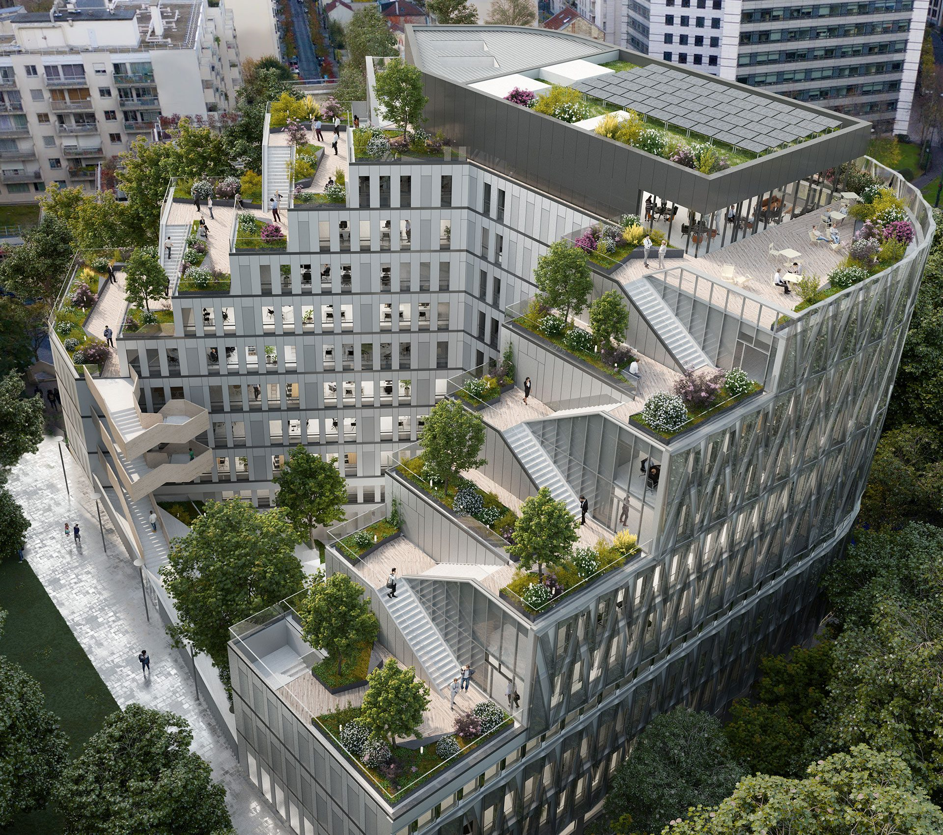 Saa Architectes Bureaux Galion Puteaux Perspective 05